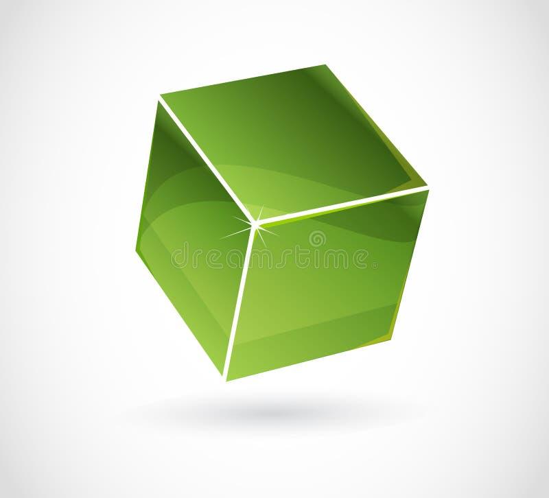 вектор влияния кубика 3d иллюстрация вектора