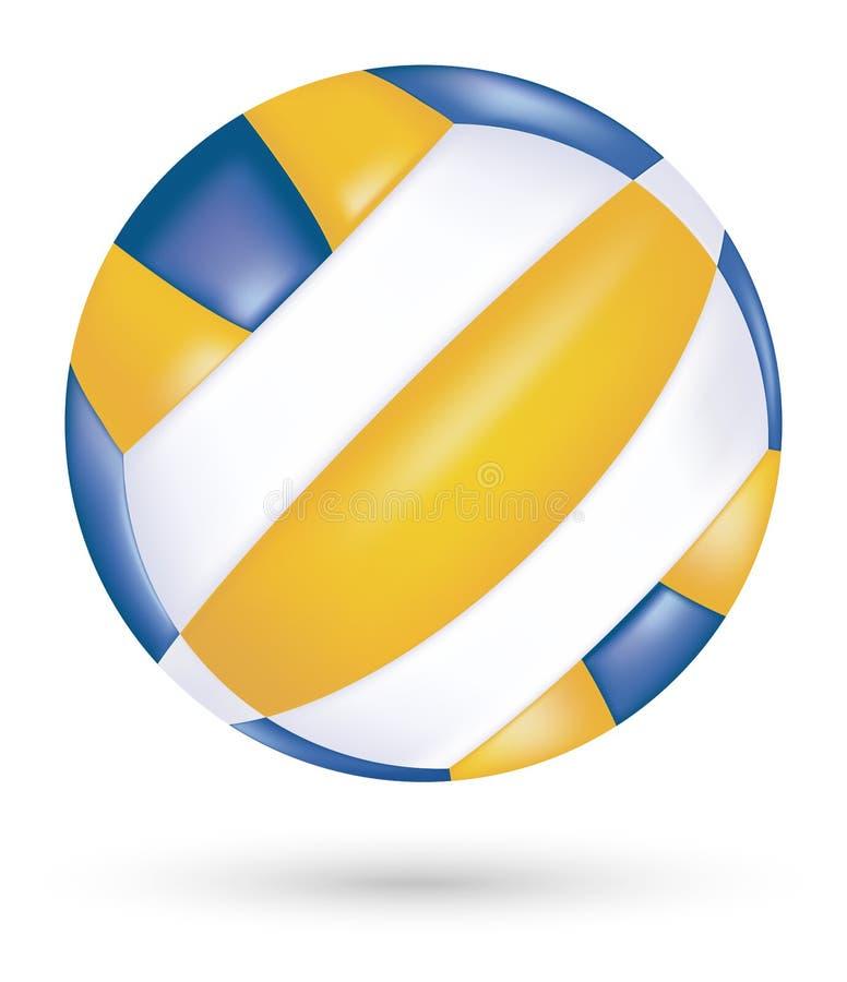 Вектор волейбола пляжа на белой предпосылке бесплатная иллюстрация