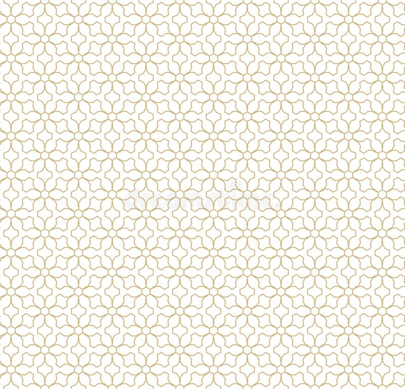 вектор геометрической картины безшовный Золотые линии текстура Восточная традиционная роскошная предпосылка бесплатная иллюстрация
