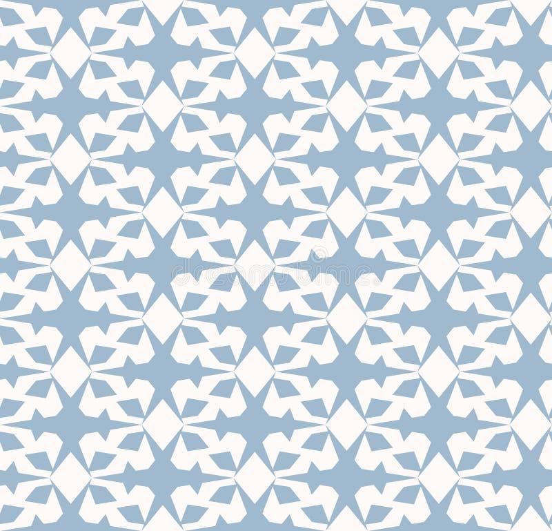 вектор геометрической картины безшовный Элегантный орнамент в бледном - голубой и белый цвет бесплатная иллюстрация