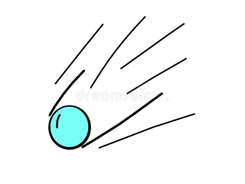 Вектор голубого падая шарика стоковое изображение