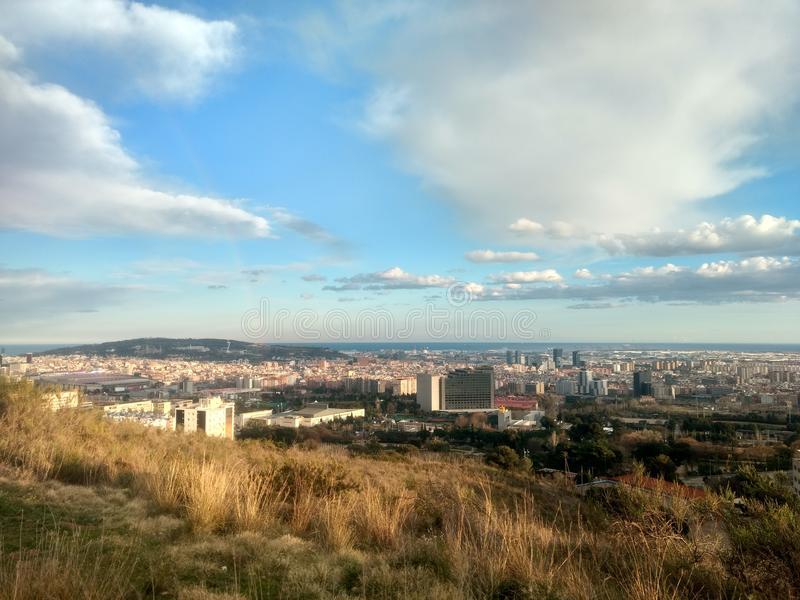 вектор горизонта конструкции города предпосылки ваш стоковое фото