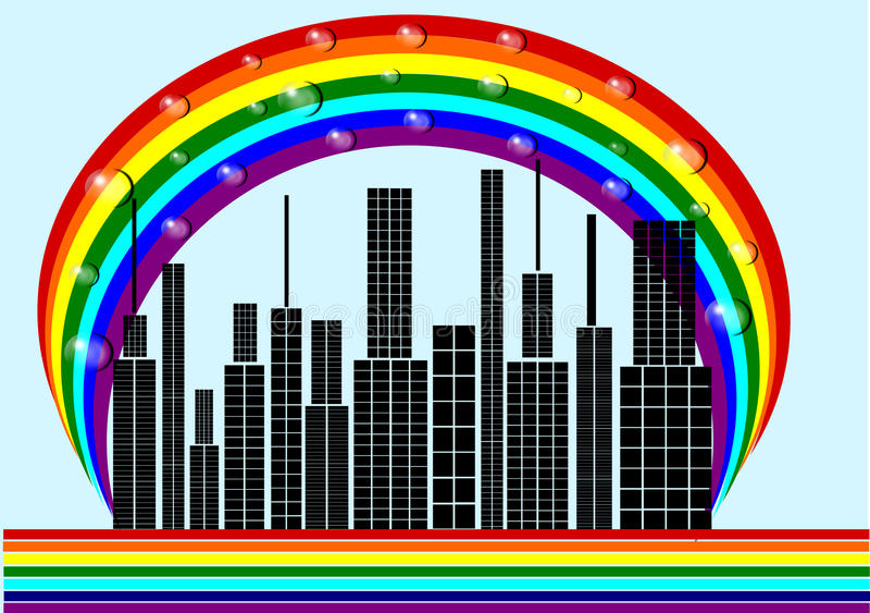 вектор горизонта конструкции города предпосылки ваш иллюстрация штока