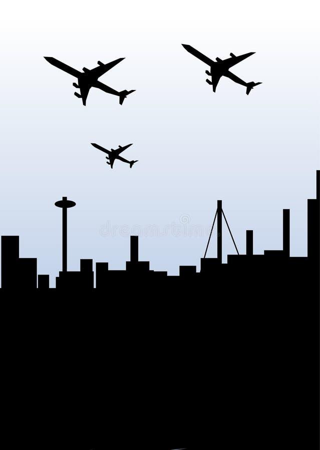 вектор города плоский иллюстрация вектора