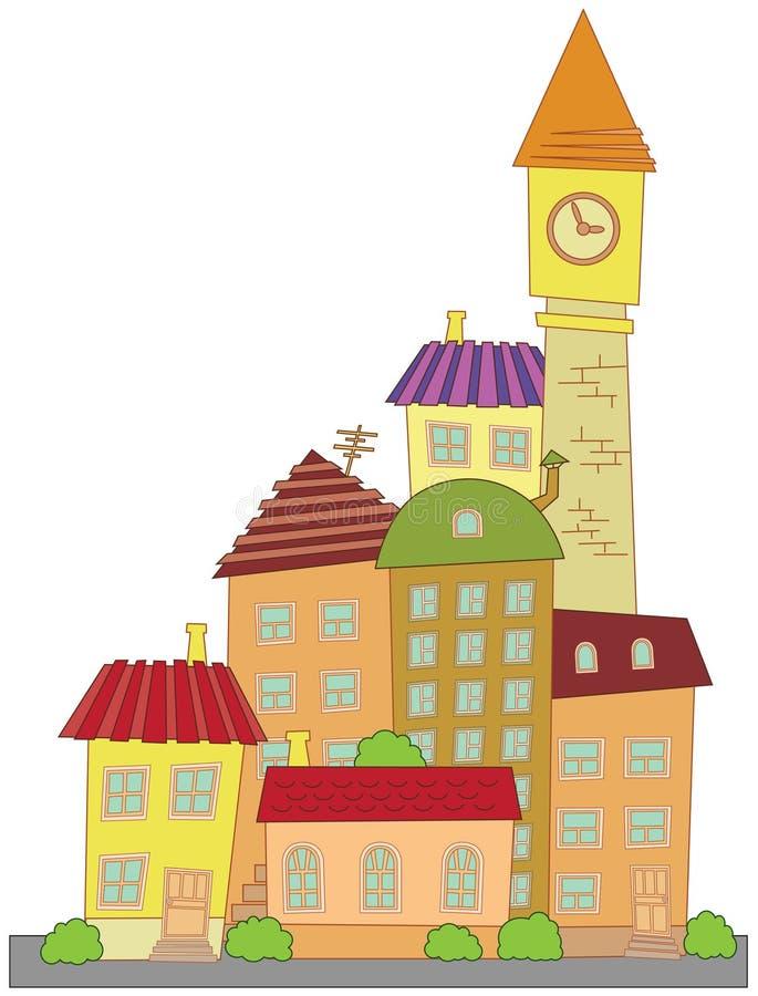 вектор городка конструкции шаржа иллюстрация штока