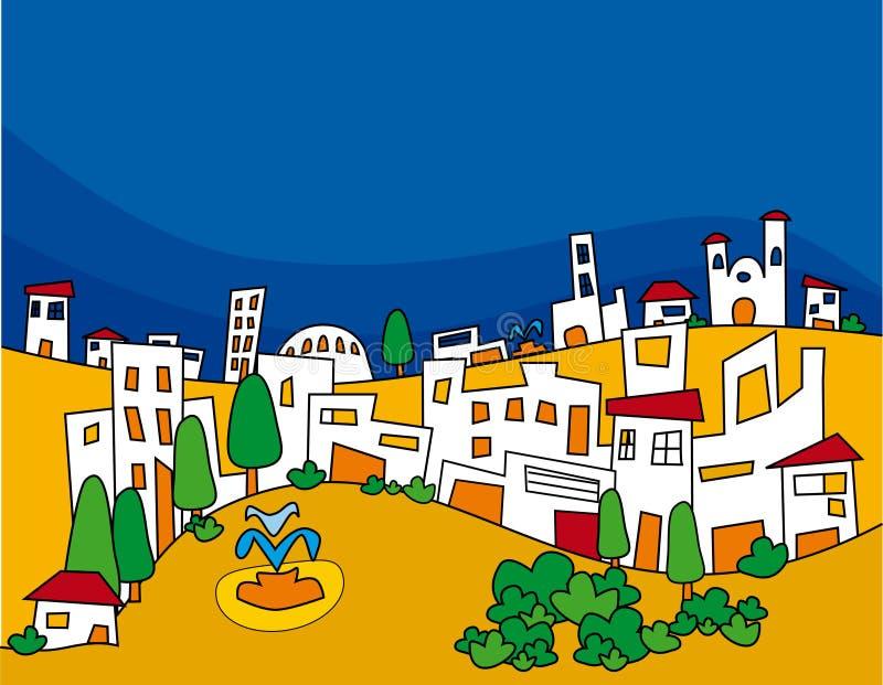 вектор городка бесплатная иллюстрация