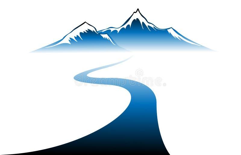 Вектор гор зимы бесплатная иллюстрация