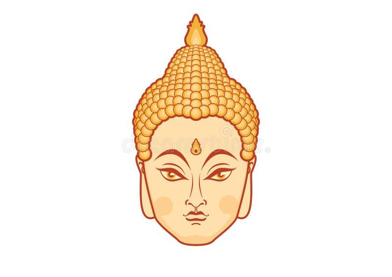 Вектор головы Будды бесплатная иллюстрация