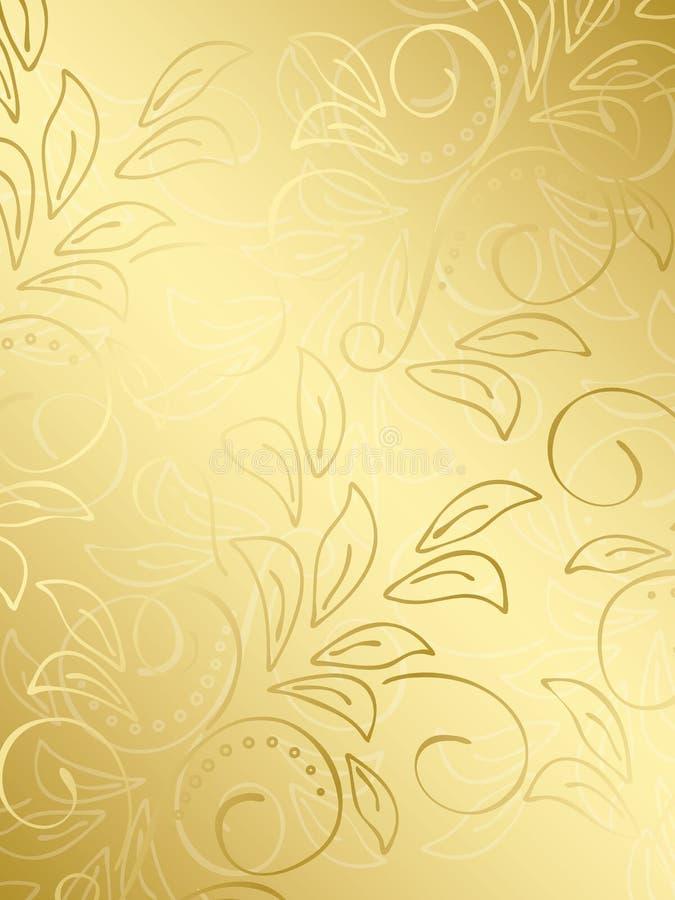 вектор градиента золота предпосылки флористический иллюстрация вектора