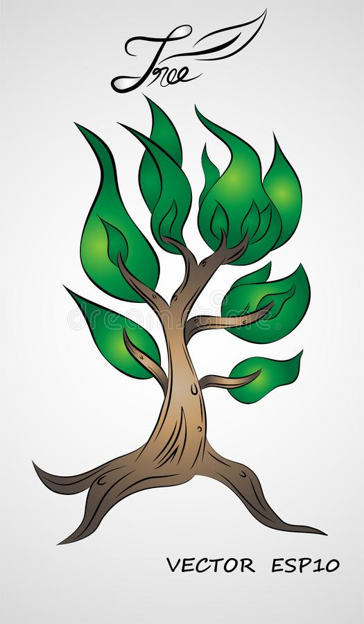 Вектор графического дизайна иллюстрации дерева стоковое фото rf