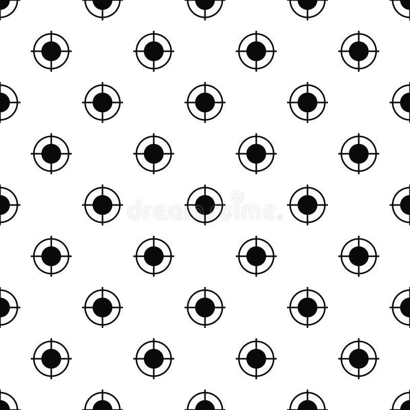 Вектор далекой картины цели безшовный иллюстрация вектора