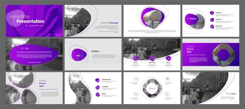 Вектор дела представления Template Элементы градиента для представлений скольжения на белой предпосылке иллюстрация штока