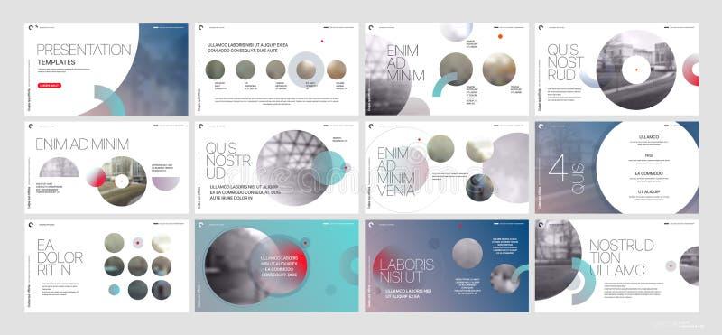 Вектор дела представления Template Элементы градиента для представлений скольжения на белой предпосылке бесплатная иллюстрация