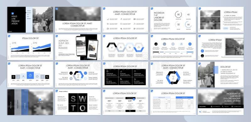 Вектор дела представления Template Элементы для представлений скольжения на белой предпосылке бесплатная иллюстрация