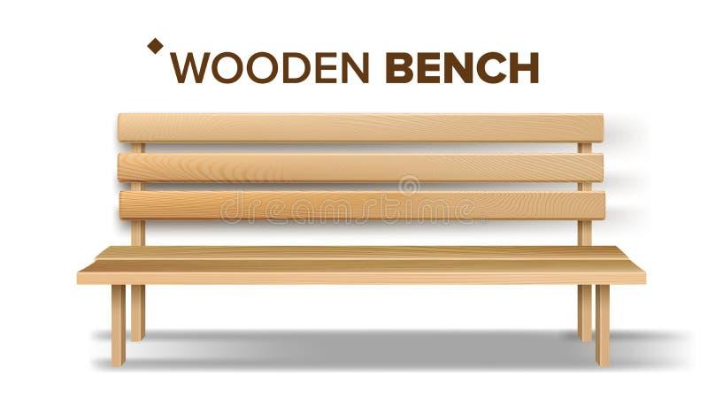 Вектор деревянной скамьи ремесленничества дизайна классический иллюстрация вектора