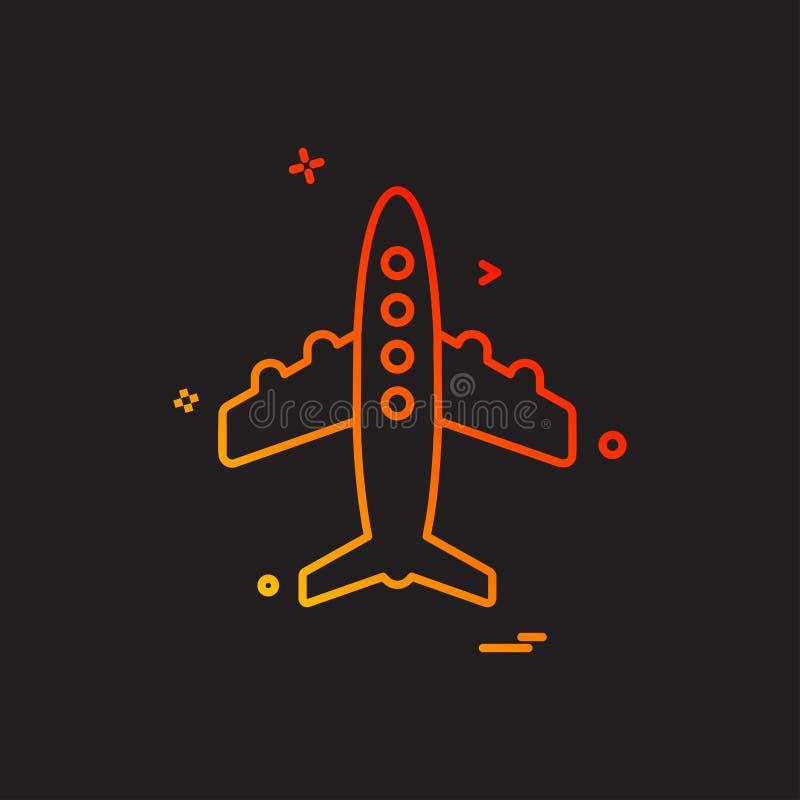 Вектор дизайна значка аэроплана бесплатная иллюстрация