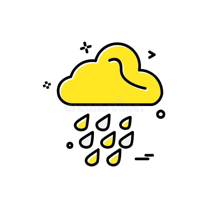 Вектор дизайна значка дождя иллюстрация штока