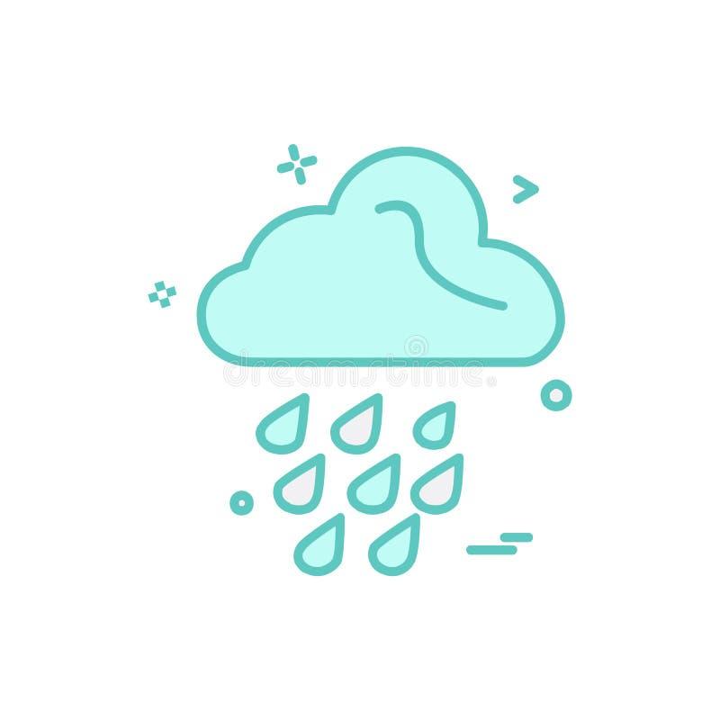 Вектор дизайна значка дождя иллюстрация вектора