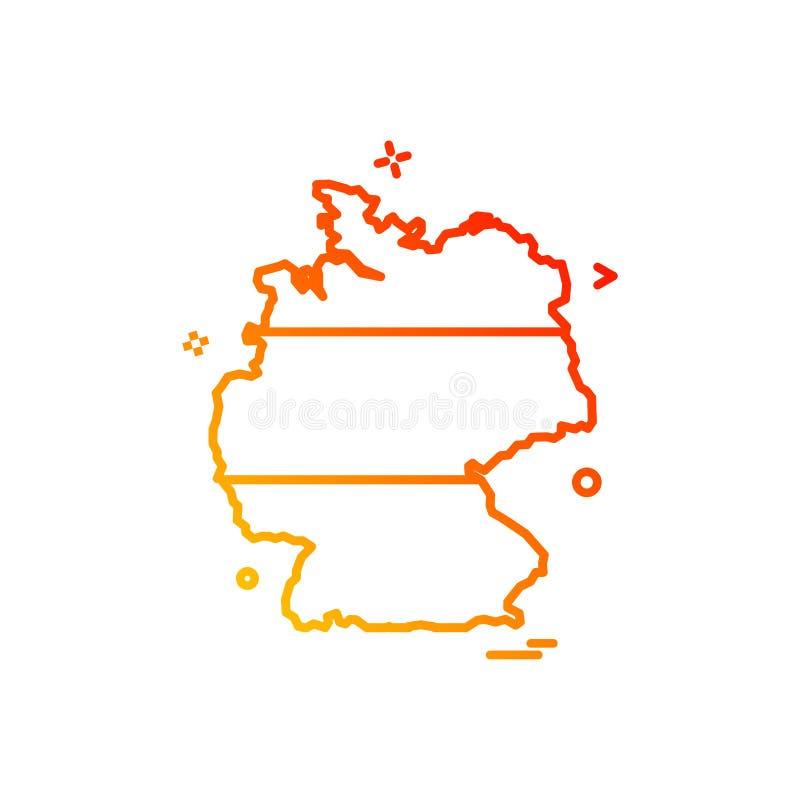 Вектор дизайна значка карты Германии бесплатная иллюстрация