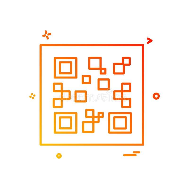 Вектор дизайна значка кода QR иллюстрация штока