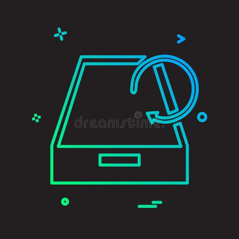 Вектор дизайна значка коробки падения иллюстрация штока