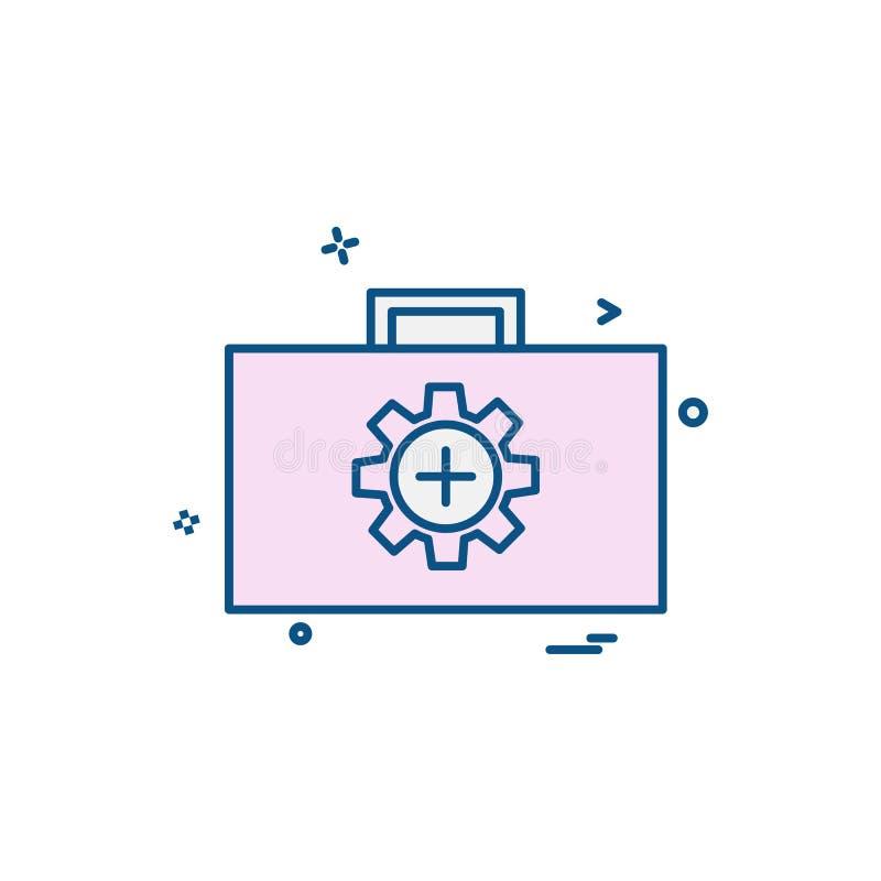 Вектор дизайна значка шестерни иллюстрация штока