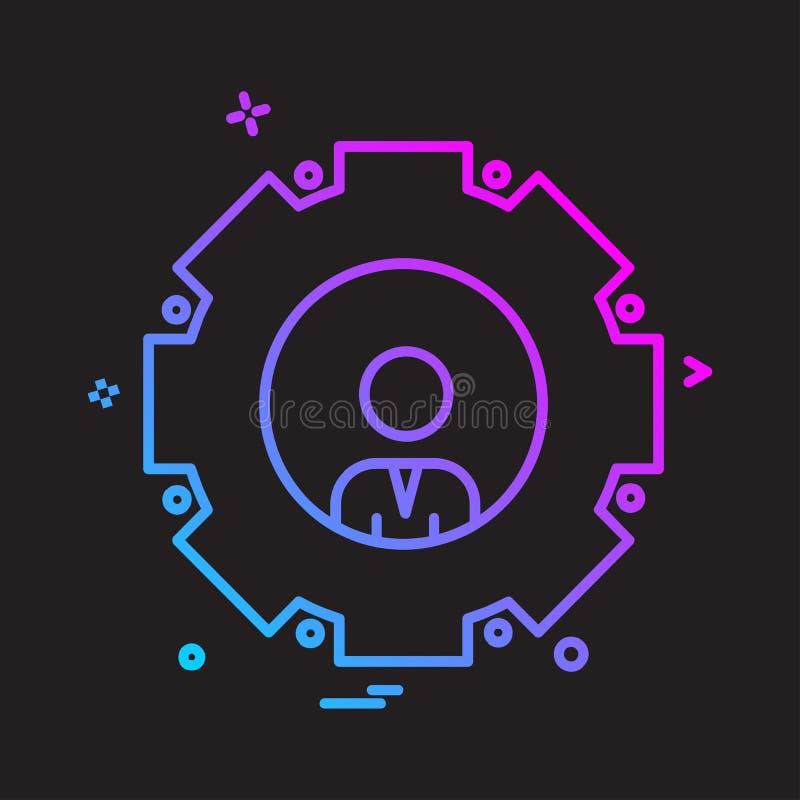 Вектор дизайна значка шестерни иллюстрация вектора