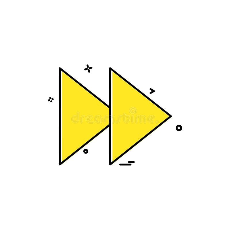 Вектор дизайна значка Forword бесплатная иллюстрация