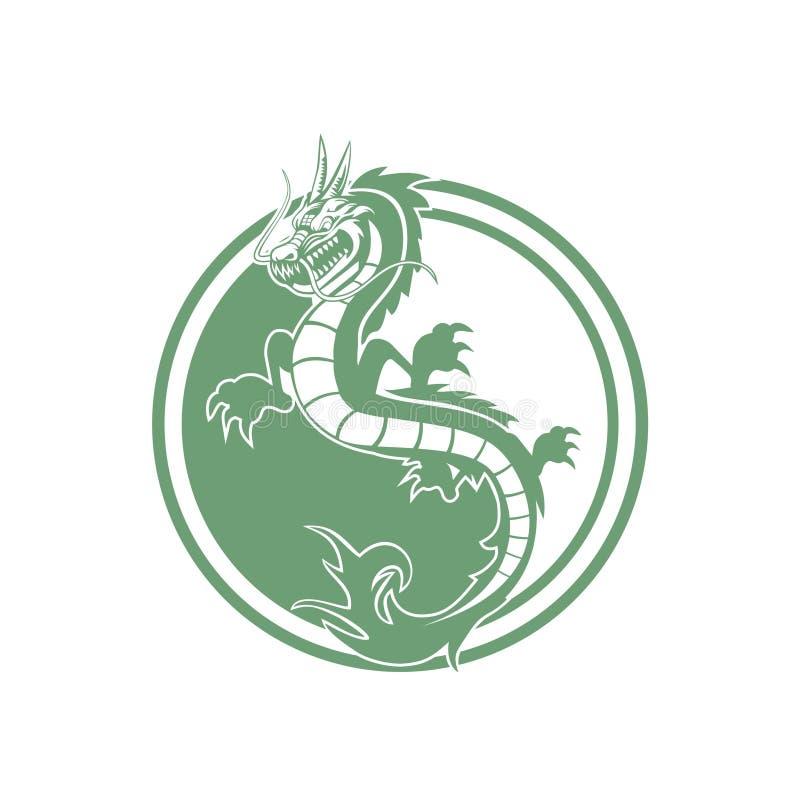 Вектор дизайна логотипа дракона иллюстрация вектора