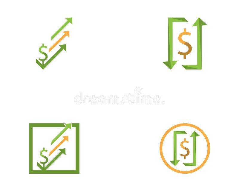 Вектор дизайна логотипа значка финансов дела иллюстрация штока