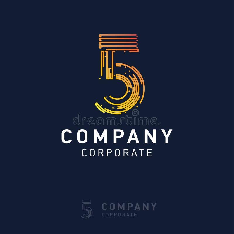 вектор дизайна логотипа 5 компаний иллюстрация вектора