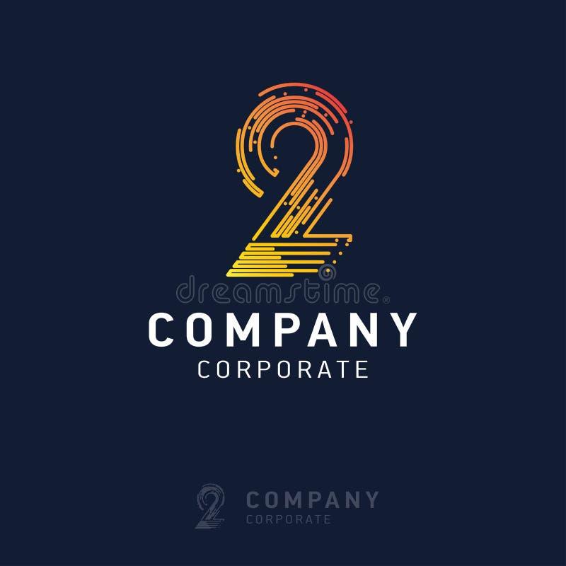 вектор дизайна логотипа 2 компаний иллюстрация штока