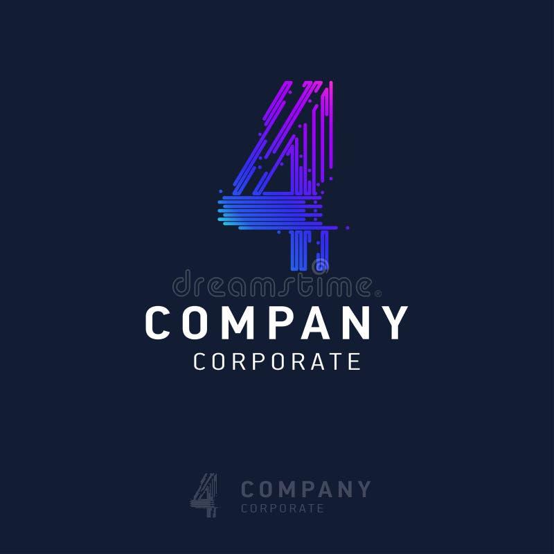 вектор дизайна логотипа 4 компаний иллюстрация вектора
