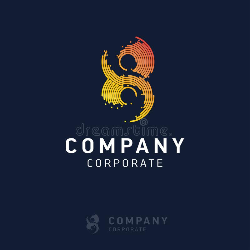 вектор дизайна логотипа 8 компаний иллюстрация вектора