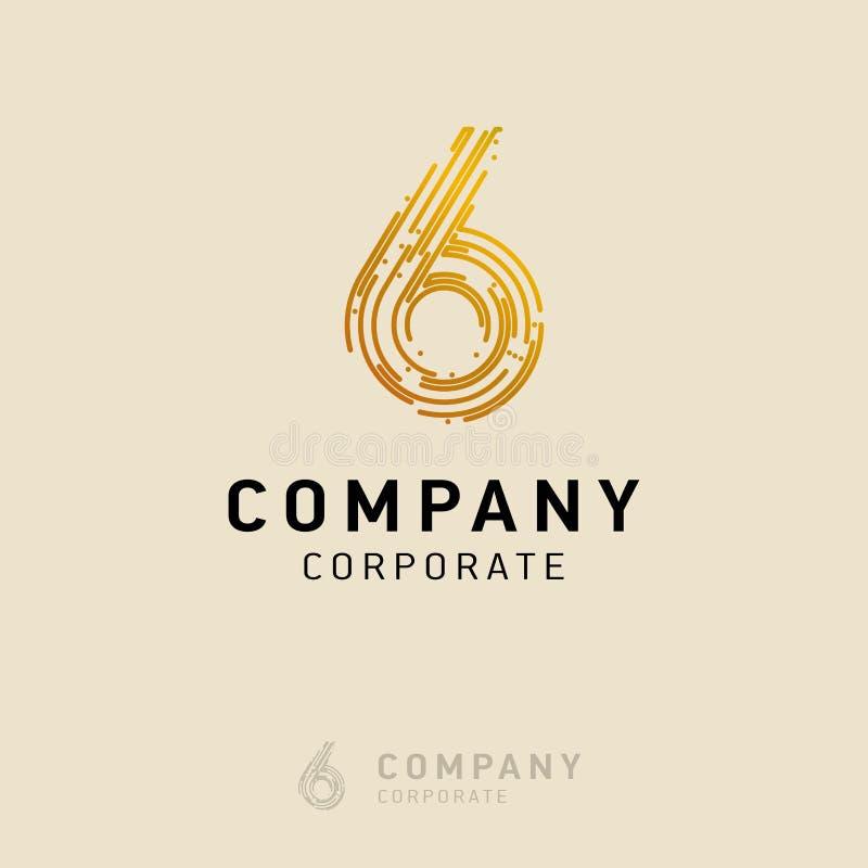 вектор дизайна логотипа 6 компаний бесплатная иллюстрация