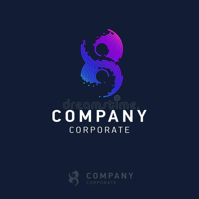 вектор дизайна логотипа 8 компаний бесплатная иллюстрация