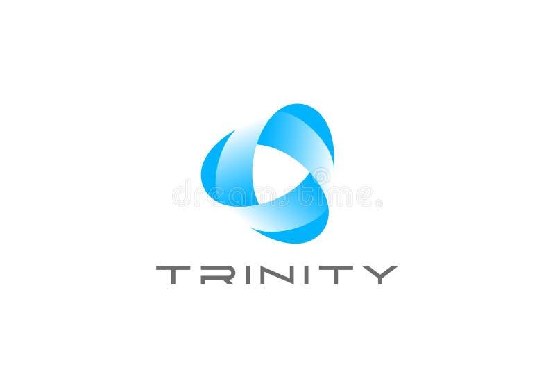 Вектор дизайна логотипа ленты петли безграничности треугольника иллюстрация штока