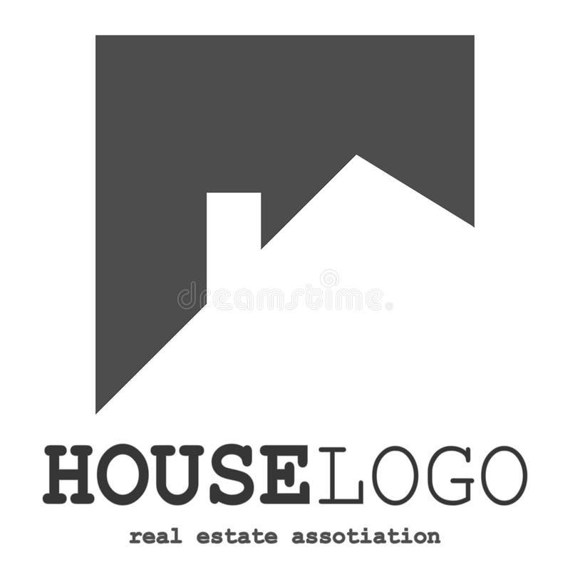 Вектор дизайна логотипа недвижимости изолированный на простой белой предпосылке бесплатная иллюстрация