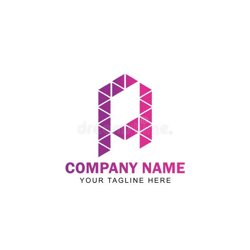 Вектор дизайна логотипа письма a треугольника иллюстрация вектора