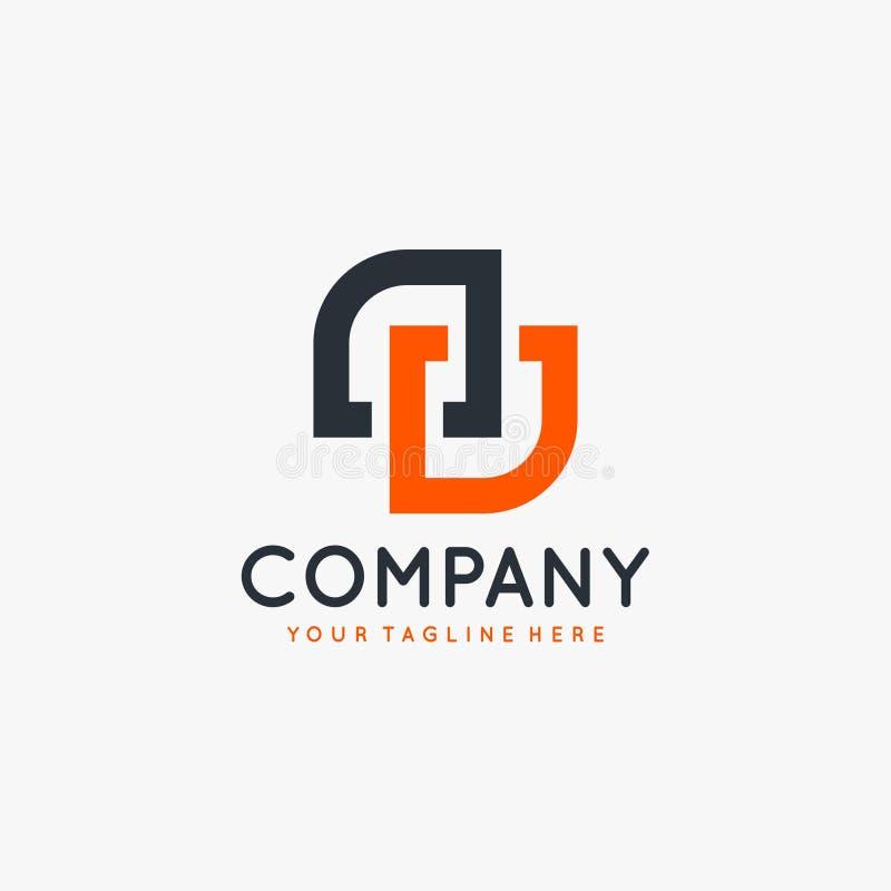Вектор дизайна логотипа письма DD иллюстрация вектора