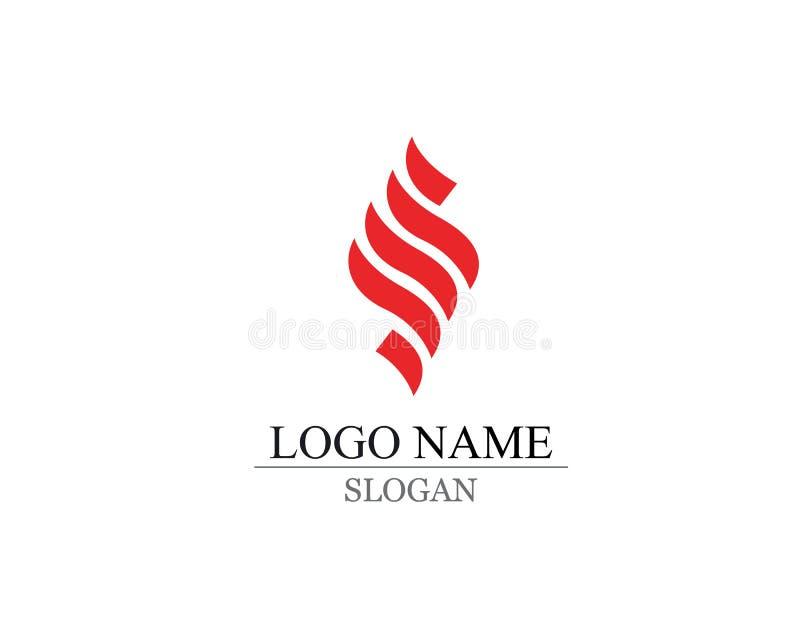 Вектор дизайна логотипа письма s дела корпоративный иллюстрация штока