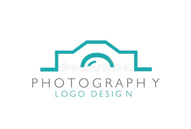 Вектор дизайна логотипа фотографии творческий иллюстрация штока
