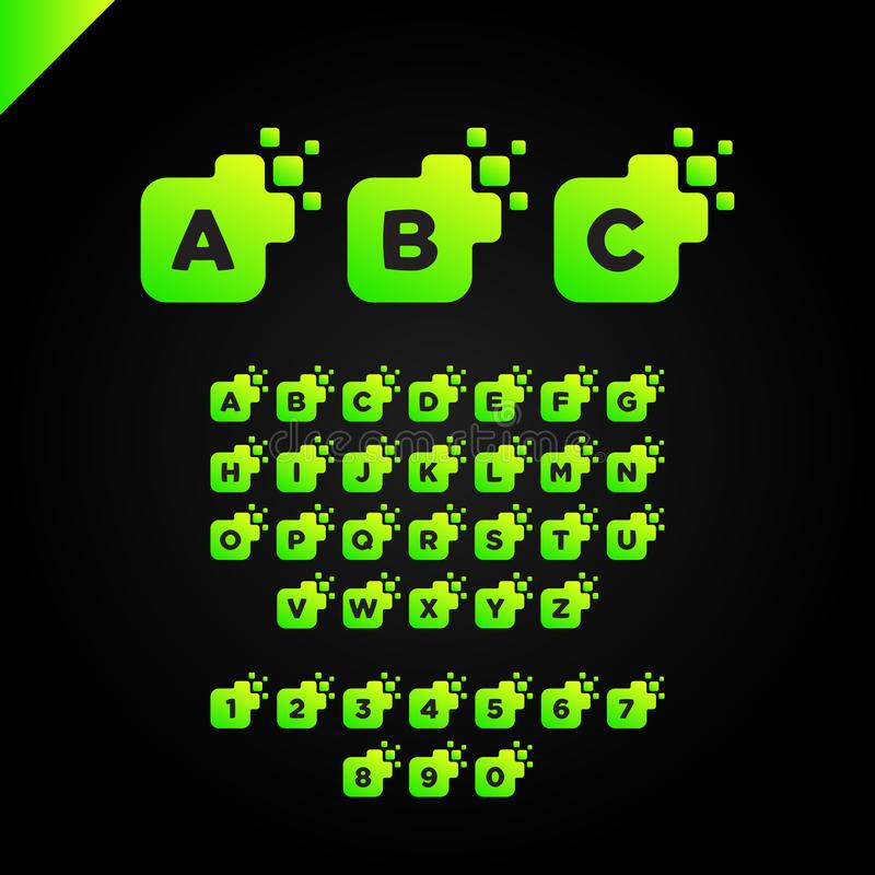 Вектор дизайна логотипа шрифта письма дела корпоративный квадратный бесплатная иллюстрация