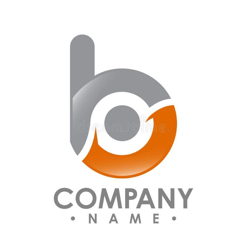 Вектор дизайна логотипа b письма дела корпоративный цветастое письмо иллюстрация штока