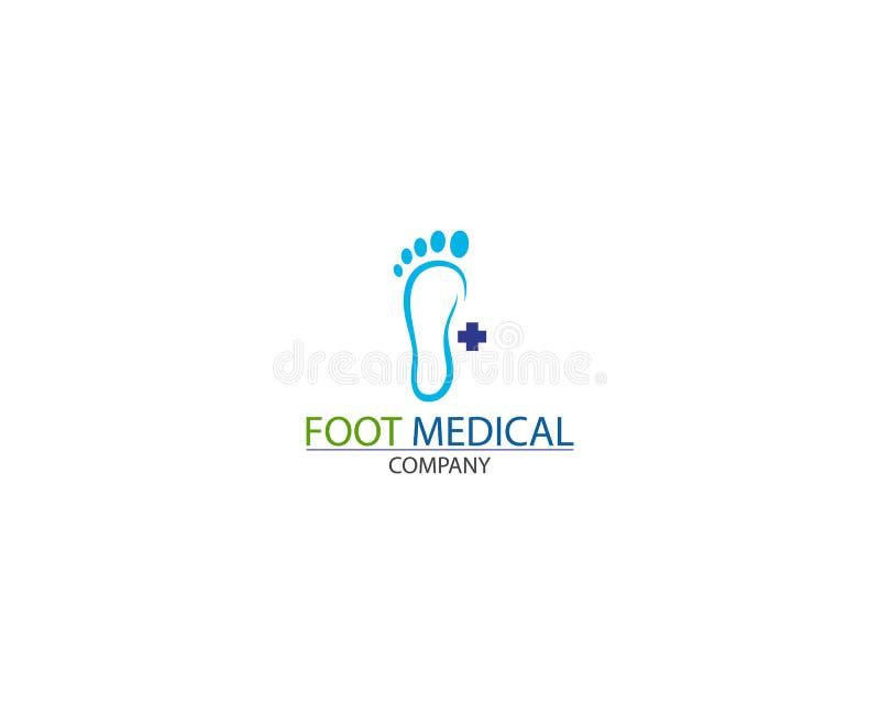 Вектор дизайна шаблона логотипа здоровья ноги медицинский творческий иллюстрация штока