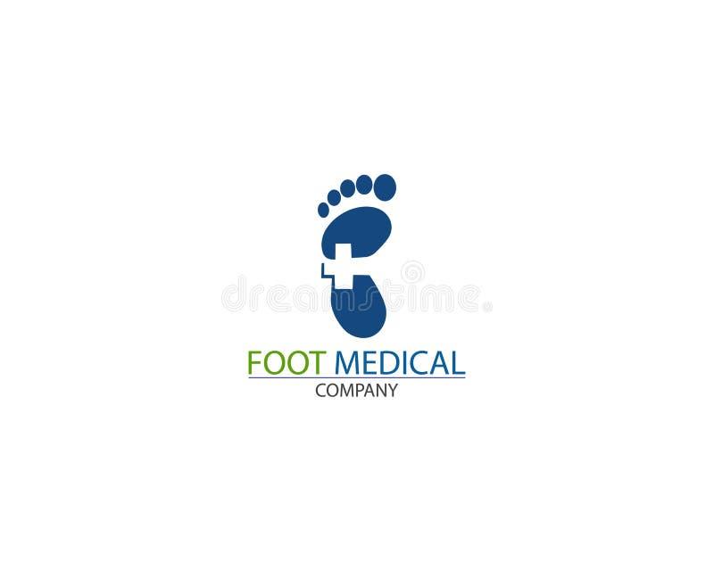 Вектор дизайна шаблона логотипа здоровья ноги медицинский творческий иллюстрация вектора