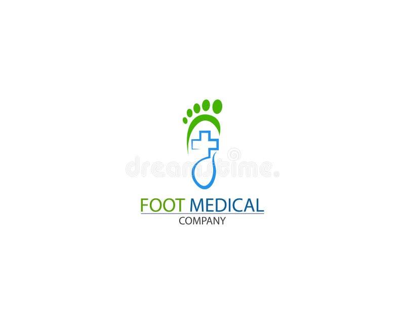 Вектор дизайна шаблона логотипа здоровья ноги медицинский творческий бесплатная иллюстрация