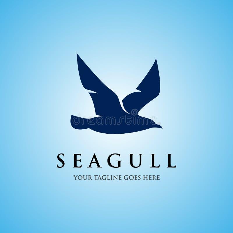 Вектор дизайнов значка логотипа чайки иллюстрация вектора