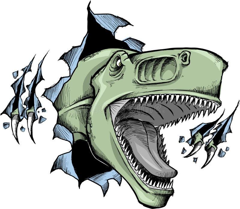 вектор динозавра схематичный иллюстрация вектора