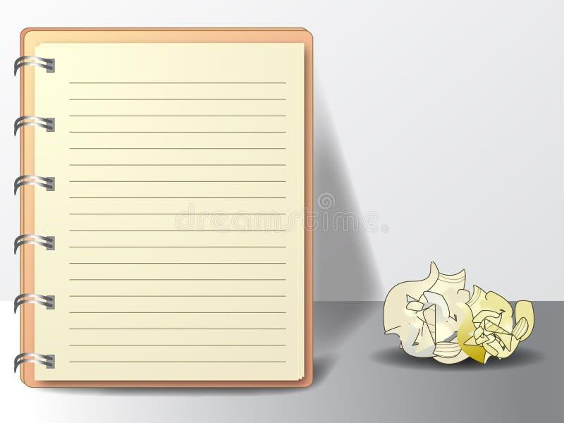 вектор дневника иллюстрация штока